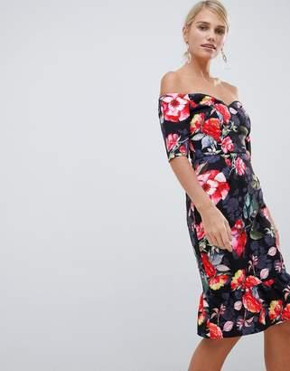56e64e971af669 Floral Bardot Dress - ShopStyle UK