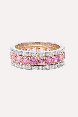 Bayco Platinum, 18-karat Rose Gold, Sapphire And Diamond Ring
