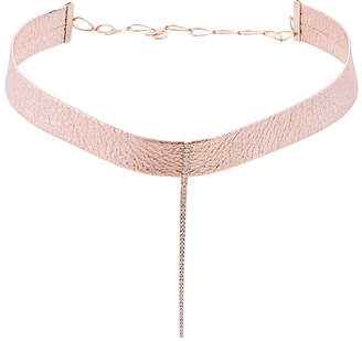 Diane Kordas diamond leather choker