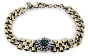 Iosselliani Burnished Gold-Tone Crystal Bracelet