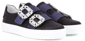 Roger Vivier Sneaky Viv Double Buckle satin sneakers