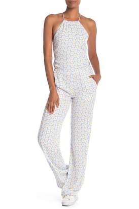 Love Moschino Floral Print Halter Jumpsuit