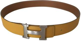 Hermes Vintage H Yellow Leather Belts