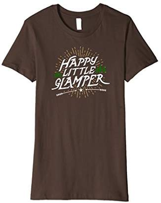 Happy Little Glamper - Funny Summer Vacation Camping T-Shirt