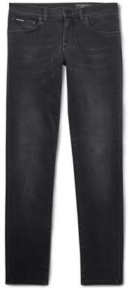 Dolce & Gabbana Slim-Fit Stretch-Denim Jeans - Men - Black