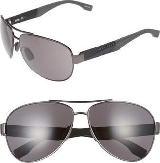 BOSS 65mm Aviator Sunglasses