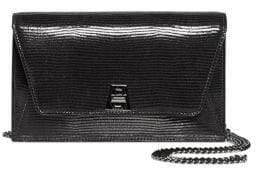 Akris Women's Anouk Patent Leather Convertible Clutch - Ocean