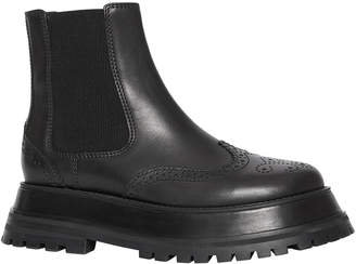 Burberry Guideport Leather Gored Wing-Tip Booties