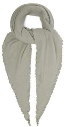 Allude Fine Knit Cashmere Scarf - Womens - Khaki