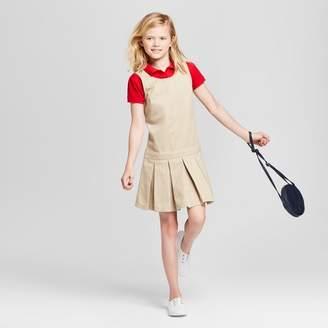 Cat & Jack Girls' Uniform Woven Jumper