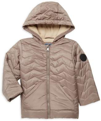 Perry Ellis Baby Boy's Quilted Faux Fur-Lined Hooded Jacket