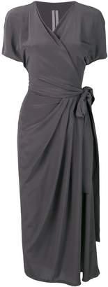 Rick Owens long wrap dress