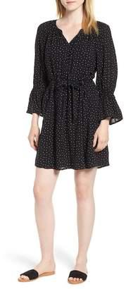 Lucky Brand Printed Bell Sleeve Dress