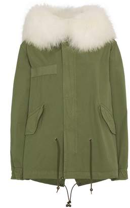 Mr & Mrs Italy Fur Trimmed Mini Parka