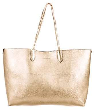 Alexander McQueen Metallic Leather Tote