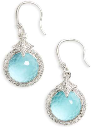 Armenta New World Diamond & Turquoise Drop Earrings