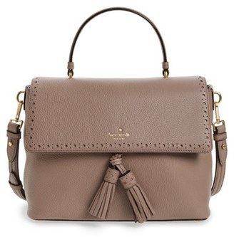 Kate Spade New York James Street - Sparrow Leather Satchel - Brown $428 thestylecure.com
