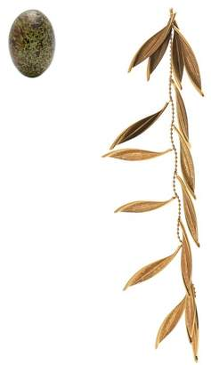 Jacquemus L'olive Mismatched Earrings - Womens - Gold