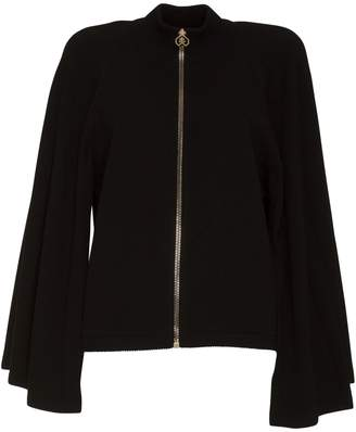 Givenchy Zipped Cape Cardigan In Wool And Cashmere