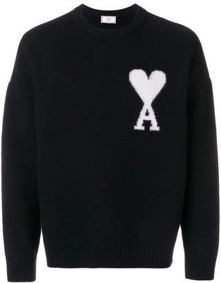 Ami Alexandre Mattiussi Oversize Ami De Coeur Crewneck Sweater