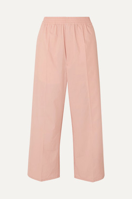 MM6 MAISON MARGIELA Cropped Cotton-blend Wide-leg Pants - Antique rose