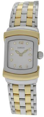 Damiani Ego Diamond Stainless Steel & 18K Yellow Gold Plated Quartz 19mm Womens Watch