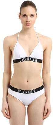 Calvin Klein Logo Band Triangle Bikini Top