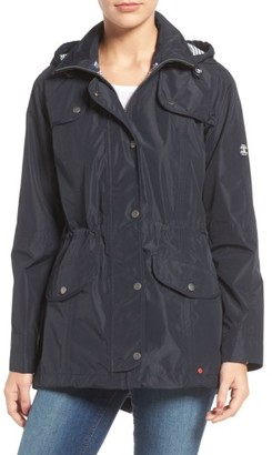 Women's Barbour Trevose Waterproof Hooded Jacket $349 thestylecure.com