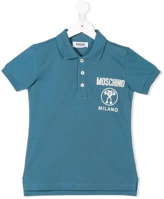 Moschino Kids logo printed polo shirt