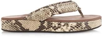 NEWBARK Beatrice thong-strap snake-effect sandals