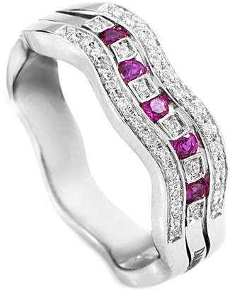 Damiani 18K 0.22 Ct. Tw. Diamond & Ruby Ring
