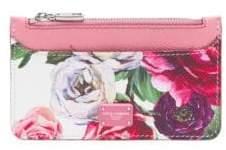 Dolce & Gabbana Leather Floral Card Holder