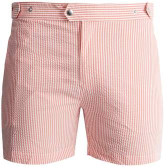Solid & Striped The Kennedy striped seersucker swim shorts