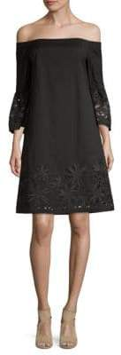 Lafayette 148 New York Palmira Off-The-Shoulder Shift Dress