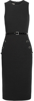 Michael Kors Collection - Belted Wool-blend Crepe Dress - Black $1,695 thestylecure.com
