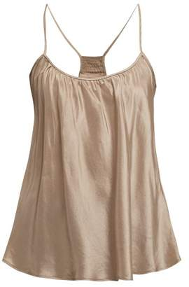 BEIGE Loup Charmant - Scoop Neck Silk Tank Top - Womens