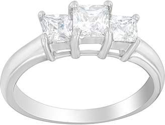 Affinity Diamond Jewelry 3-Stone Princess Cut Ring, 14K, 9/10 cttw, by Affinity