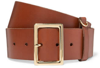 Frame Leather Belt - Brown