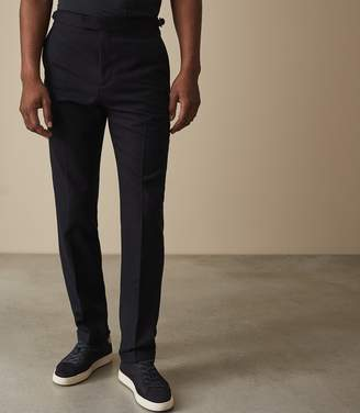 Reiss RANGER FLANNEL TROUSERS Navy