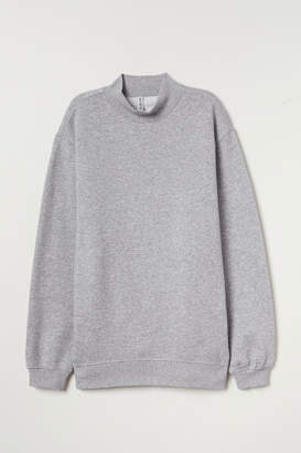 H&M Mock-turtleneck Sweatshirt - Gray