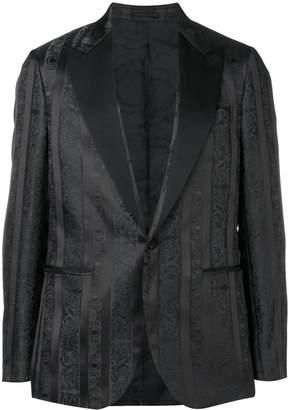 Versace striped patterned dinner jacket