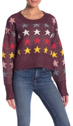 Wildfox Couture Elektra Rainbow Star Sweater