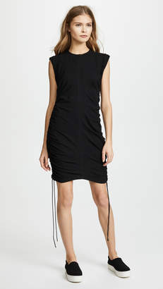 Alexander Wang High Twist Jersey Mini Dress with Side Ties