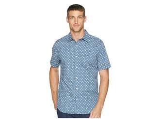 Nautica Short Sleeve Anchor Print Poplin Woven Shirt