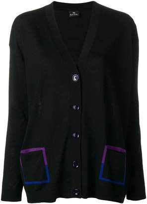 Paul Smith contrast pocket cardigan