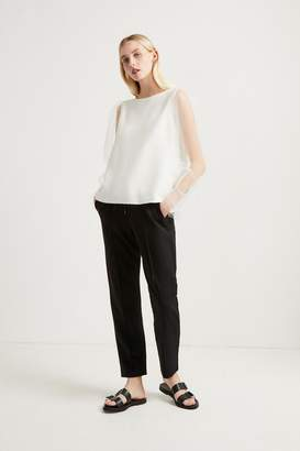 French Connenction Phyllis Sheer Jersey Top