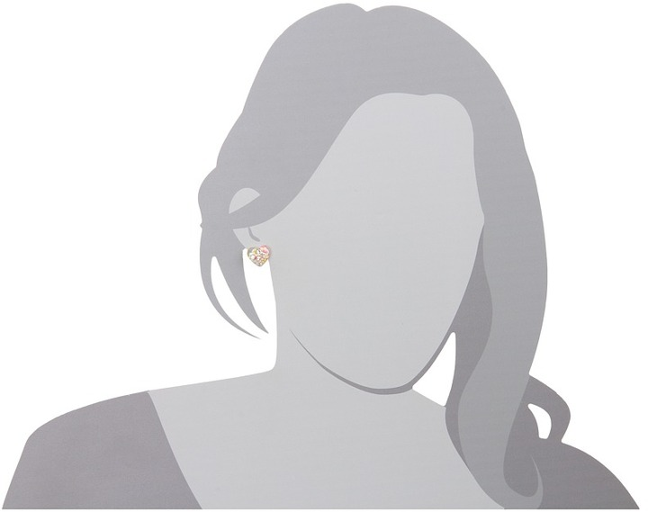 Betsey Johnson Candylane Heart Stud Earrings