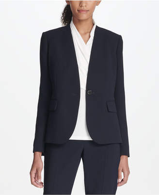 DKNY Collarless One-Button Jacket