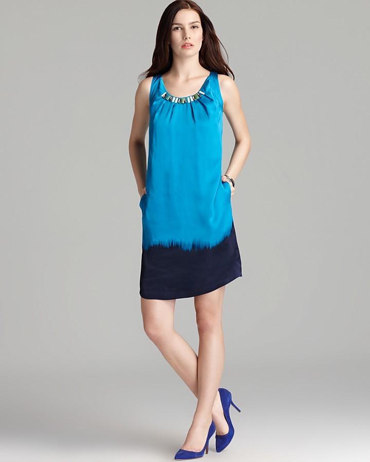 Jones New York Collection Dip Dye Print Dress
