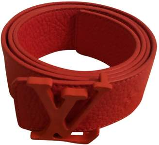 Louis Vuitton Red Leather Belts